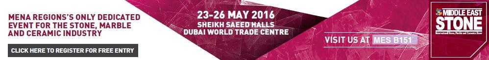 Middle East Stone – Dubai dal 23 al 26 Maggio 2016